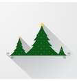 simple christmas tree background vector image vector image