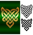 small celtic heart vector image vector image