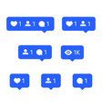 social network icons tooltips speech bubbles vector image vector image