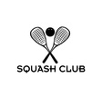 squash club vector image