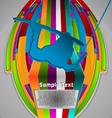 summer sport design series wake boarding theme vector image vector image