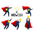 super idea businessman brave strong business man vector image vector image