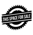 This Space For Sale rubber stamp vector image vector image
