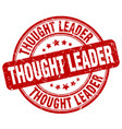 thought leader red grunge stamp vector image vector image