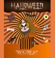trick or treat halloween background vector image vector image
