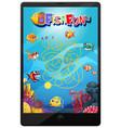 underwater game on tablet screen vector image