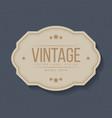 vintage labels and frame design elements vector image vector image