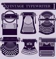 Vintage typewriter I vector image vector image