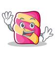 waving marshmallow character cartoon style vector image vector image