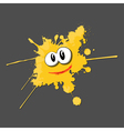 Yellow ink cartoon vector image vector image