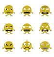 cute monster set vector image
