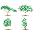 TREES ABSTRACT-COLLECTION OF FOUR vector image