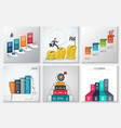 business staircase infographics vector image