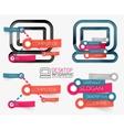 desktop pc infographics and keyword cloud vector image