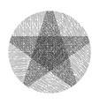 hand drawn star vector image