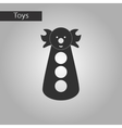 black and white style toy clown vector image