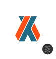 a and x capital letters logo cornered ax or xa vector image vector image