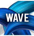 abstract background blue curve image vector image