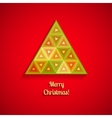 abstract Christmas tree from triangles vector image vector image