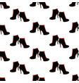 ankle boots shoes pattern vector image vector image