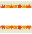 autumn leaves border vector image vector image