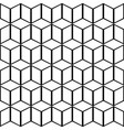 background pattern seamless geometric cube line vector image