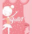 beautiful ballerina ballet character in star vector image vector image
