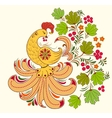 bird and autumn plant vector image