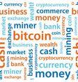 bitcoin text seamless pattern vector image vector image