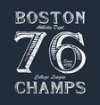 boston champ - typography for design clothes vector image vector image