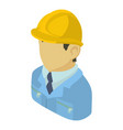 builder engineer asian icon isometric 3d style vector image
