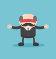 business concept businessmen are blindfolded who vector image