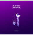 business growth - modern isometric web vector image vector image