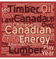 Canada Plays China Card text background wordcloud vector image vector image
