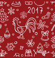 christmas and new y pattern vector image vector image