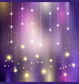 Christmas magical stars background vector image