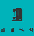 coffee maker machine icon flat vector image vector image