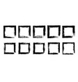 collection empty black grunge rectangle frame vector image