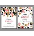 collection universal modern stylish cards vector image