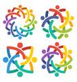 community logo icon vector image vector image