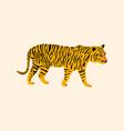 cute tiger cartoon animal vector image vector image