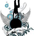 dancing man and wing banner vector image vector image