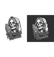 dia de los muertos vintage print vector image vector image