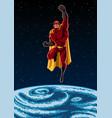 earth and superhero vector image vector image