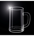 Empty beer glass vector image