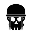 extreme skull with helmet vector image vector image