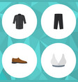 flat icon garment set of uniform pants male vector image