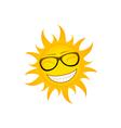 funky sun vector image