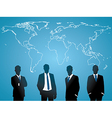 Global human resources concept business people vector image vector image