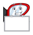 grinning with board side mirror isolated with the vector image vector image
